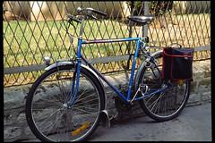 Paris July 1989 (meguropolitan) Tags: paris france film bicycle 135 nikonf3 peugeot    posi  micronikkor55mmf35 konicaminoltadimagescandual4