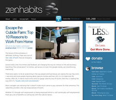 Zen Habits Top 10 Reasons to Work from Home