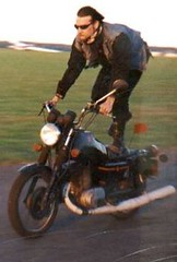 Yes... thats me on my chopped MZ250 ETZ