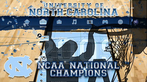UNC Champion PS3 Theme Screenshot