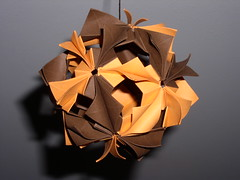 Orange Chocolate Arabesque (Subatoi) Tags: arabesque orange chocolate modul unit sphere paper origami modular globe kusudama ball