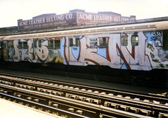 Reas and Ven, 1989 (KET ONE) Tags: brooklyn train silver subway graffiti williamsburg ven ket reas alanket