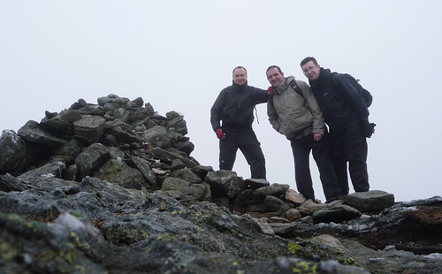 Danny, Jim and Ian at Ben Vorlich summit