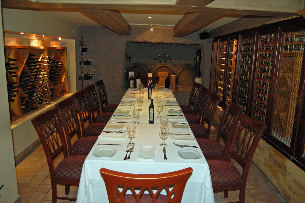 Private Dining Room and Wine Cellar -Saverios Tijuana BC Mex