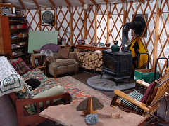 cozy yurt living room (coyurtco) Tags: green yurt sustainable yurts enviornmentallyfriendly simplelifestyle coloradoyurt