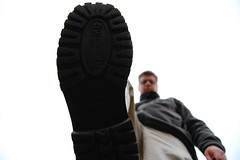 I tread on you (MinnTim) Tags: selfportrait bug foot shoe step stomp d40