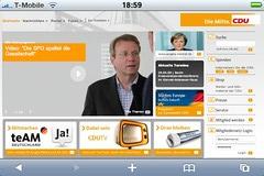 Screenshot cdu.de auf dem iPhone