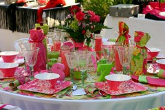 Lilly Inspired Table (mclarecal) Tags: pink decorations party green preppy dining tabledecor