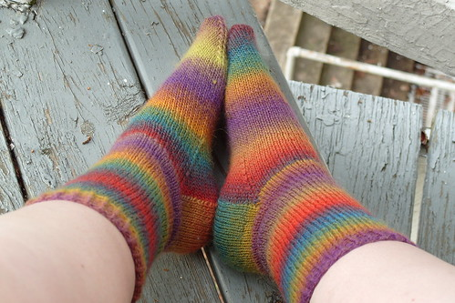 rainbow socks!
