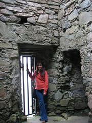 Standing in Doorway (Monica McCarty) Tags: scotland argyll campbells castlesween castleswene highlandscoundrel