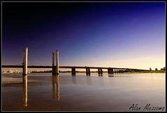 Guaba Bridge (Alan Mezzomo) Tags: bridge blue sky lake reflection water colors gua azul cores geotagged lago nikon colours portoalegre cu ponte explore polarizer reflexo guaba riograndedosul reflexive polarization d90 polarizador explored tokina1116mm