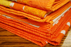 Three Orange Quilts