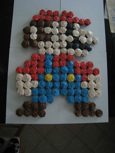 Mario Cupcake Cake