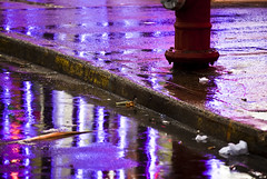 Am I In Vegas ? (RLJ Photography NYC) Tags: street vegas gambling reflection rain hydrant puddle lights purple lasvegas curb lasvegasatnight colorphotoaward youvsthebest thepinnaclehof