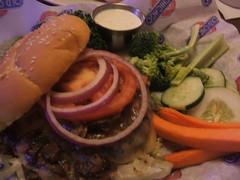 Balsamic mushroom Swiss burger