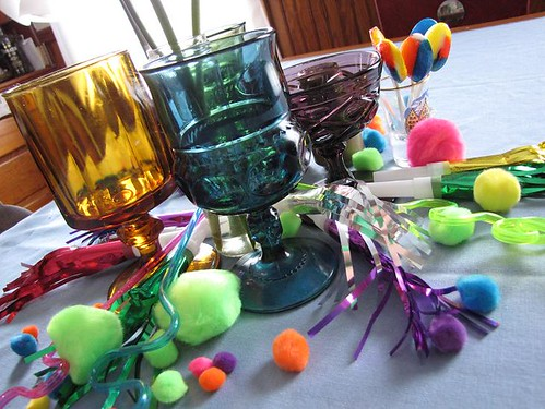 horns and pompoms and crazy straws