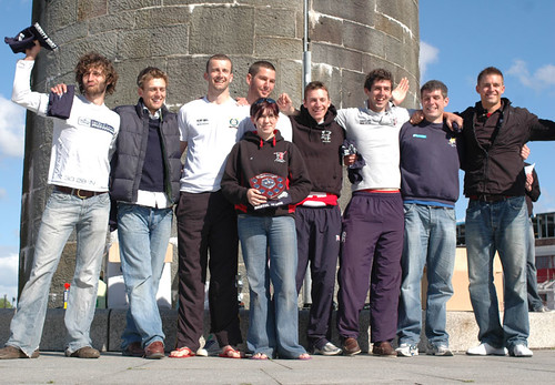 UWE's winning Alumni team, including double world champion Peter Reed
