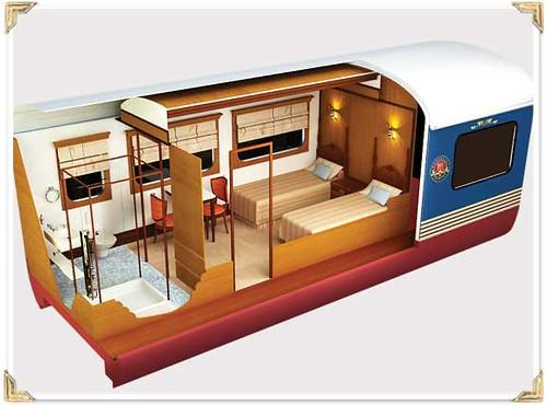 Train Chartering - Maharajas Express plan cabin junior
