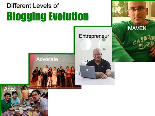 Different Levels of a Blogger's Evolution