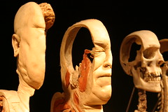 Body Worlds - Sliced Face (Patty Mooney) Tags: california face skull sandiego macabre southerncalifornia humanbody plastination gunthervonhagens humananatomy sandiegonaturalhistorymuseum bodyworldsexhibit crystalpyramidproductions germandoctor anatomicalexhibit