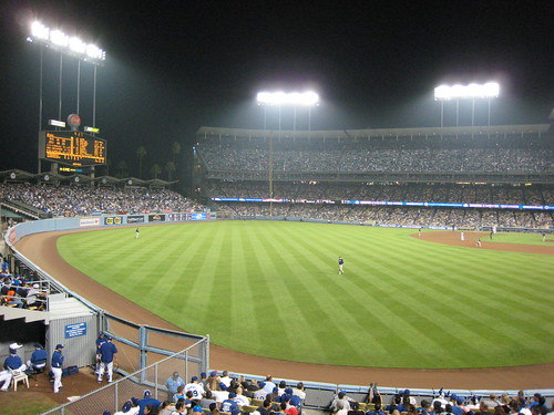 Dodger Stadium Outfield