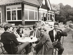 St Nicholas Park Cafe in the 60's (kestrel49) Tags: uk england blackandwhite bw 60s europe gb 1960s warwick warwickshire stnicholaspark