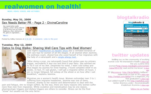 RealWomen on Health!