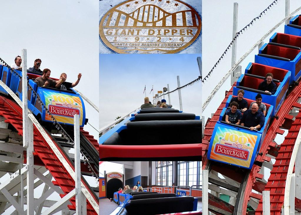 Giant Dipper Rollercoaster Santa Cruz CA