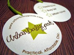 urban baby goods hang tags