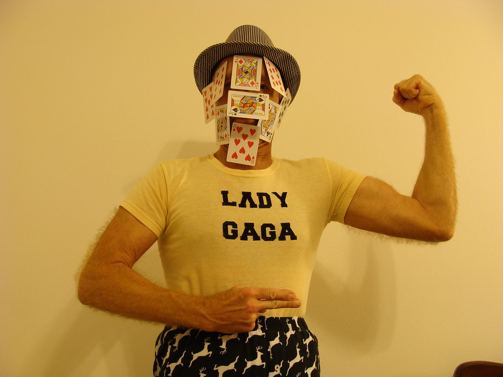 Poker Face Ray Sipe with Lady GaGa shirt.