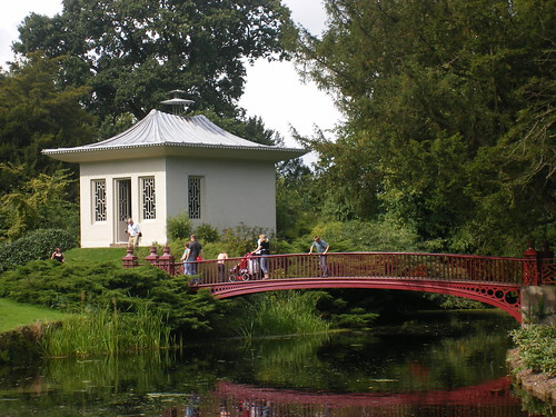 Chinese style bridge and house - Shugborough Hall