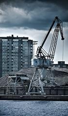 merihaka (miemo) Tags: city summer sky urban house storm abandoned clouds finland harbor dock helsinki energy europe industrial crane urbanexploration pile coal exploration sompasaari merihaka hanasaari gettyimagesfinlandq1
