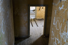 Interior of military bunker