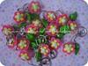 ... flores ... (Alane • maria julia biscuit) Tags: cute folhas branco handmade flor rosa amarelo biscuit strass chaveiros porcelanafria