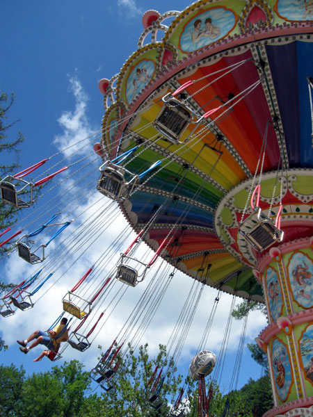 Swings at Knoebel's (Click to enlarge)