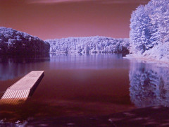 Tucker Lake in IR (W9NED) Tags: color filter infrared dx7590 false hoya r72