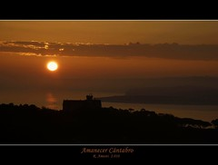 AMANECER CÁNTABRO (masaimanta) Tags: sunrise landscape mar spain paisaje amanecer santander cantabria cantábrico lamagdalena nikkor18135mm colorphotoaward nikond40x