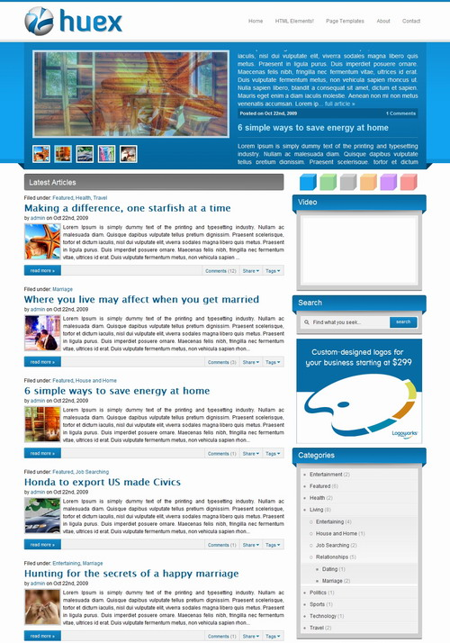 Huex   WPNow Wordpress Theme