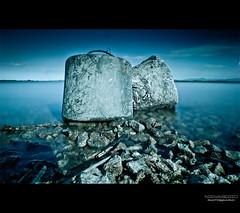 (nienaserio) Tags: lake mountains water stone canon landscape photography eos photo long exposure waterfront poland polska woda filtered 500d kamie jezioro nysa riwer nd110 nyskie nienaserio