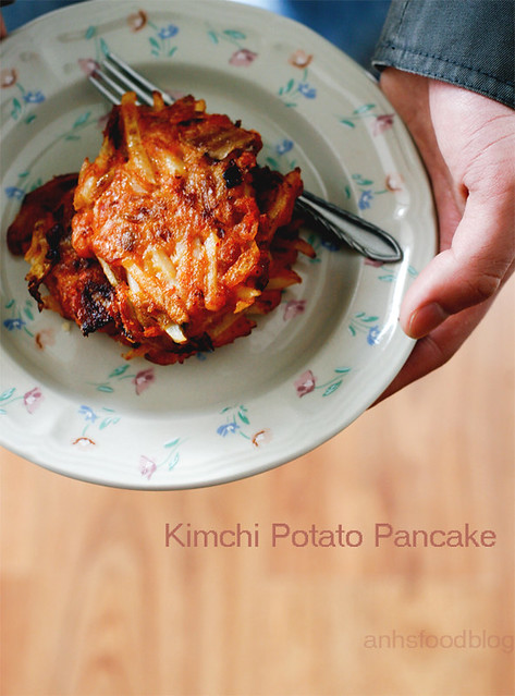 Kimchi Potato Pancake