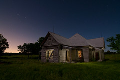 Night Farm (Noel Kerns) Tags: city house abandoned night farmhouse texas farm royse explored