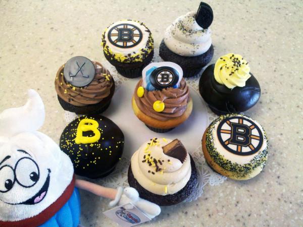 bruins cupcakes