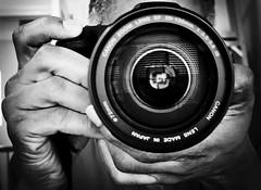 233/365 (Bakari Chavanu) Tags: blackandwhite selfportrait me hands meandmycamera 365days canon50d canonpowershotg9 rogueplayers