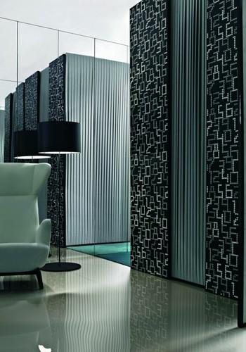 Data Mosaic Tile Design in Black