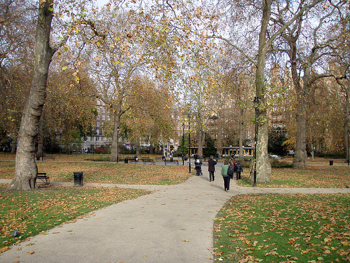 my favorite city park, London's Russell Square (by: Daniel Lobo, creative commons license)
