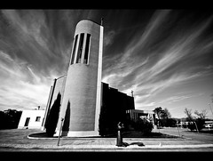 To pray (Libano*) Tags: sky bw church modern clouds blackwhite nuvole chiesa cielo libano bianconero moderna bwdreams