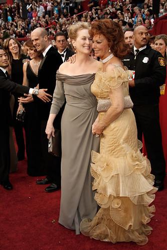 Premios Oscar  Meryl Streep y Sophia Loren