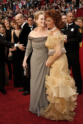 2009 Oscars: Meryl Streep and Sophia Loren