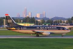 US Airways Boeing 737-3B7 N522AU (Flightline Aviation Media) Tags: airplane airport charlotte aircraft aviation jet boeing runway 737 canond30 stockphoto usair usairways clt 737300 kclt n522au 7373b7 bruceleibowitz