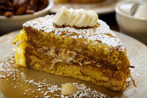 stuffed caramelized challah french toast